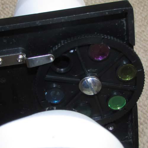 نمای فیلتر های رنگی میکروسکوپ دانش آموزی تک چشمی مدل XSP45