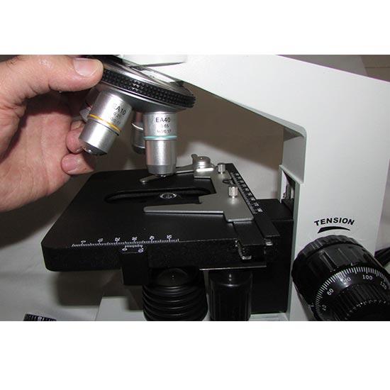 استیج و لنزهای شیئی میکروسکوپ بیولوژی 1600 برابر مدل xsz-801bn