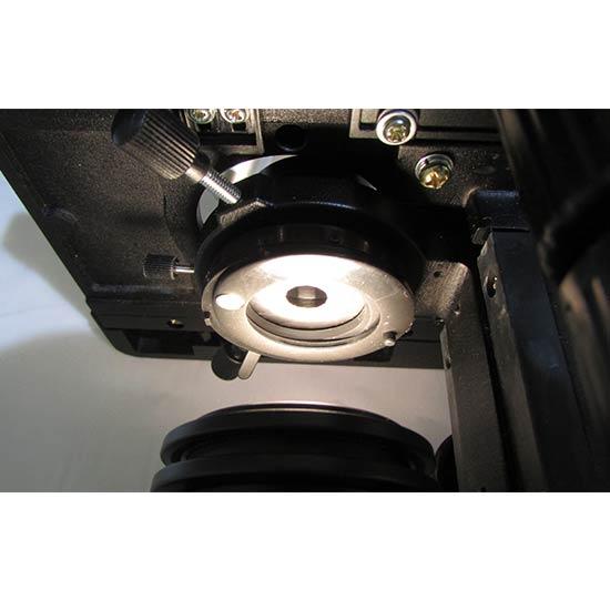 نمای کندانسور و دیافراگم میکروسکوپ بیولوژی 1600 برابر مدل xsz-801bn