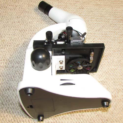 نمای زیرین میکروسکوپ دانش آموزی تک چشمی مدل XSP45