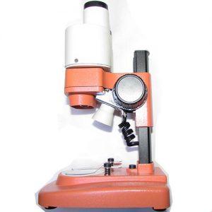 نمایی از پهلو مشاهده لامپ و سیستم فوکوس لوپ 50 برابر دو چشمی