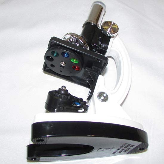 نمای فیلتر های رنگی و لامپ میکروسکوپ دانش اموزی 900X