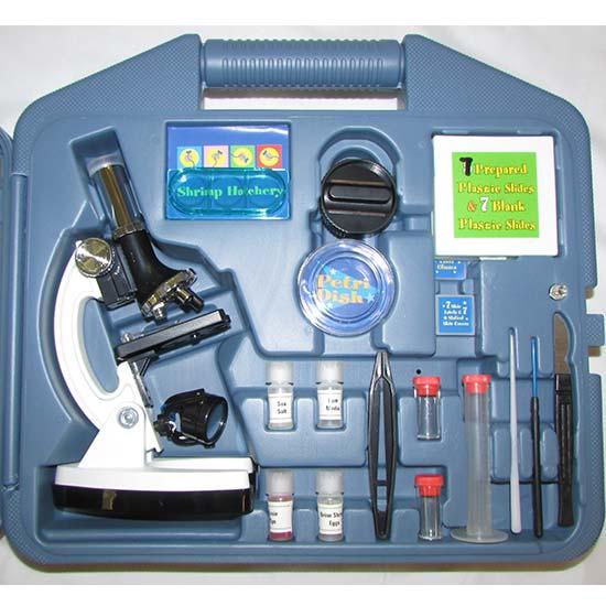 جعبه گشایی و مشاهده متعلقات میکروسکوپ دانش اموزی 900 برابر