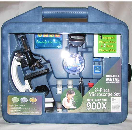 پکیج میکروسکوپ دانش آموزی Mic 900 با بزرگنمایی 100 -400 - 900 برابر