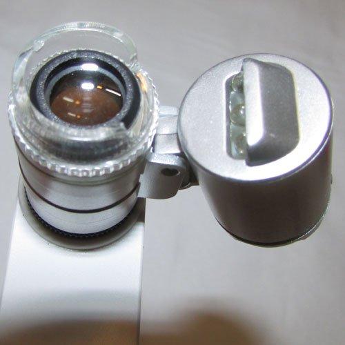 نمای لنز میکروسکوپ موبایل 60 برابر دارای کلیپس مخصوص - Universal-Clip-Type-LED-Cellphone-Microscope-60X