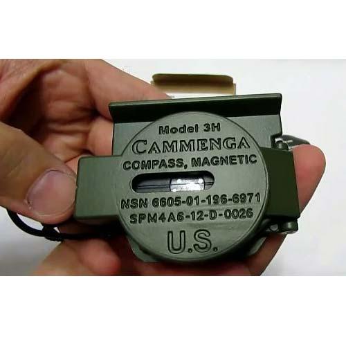 نمای پشت قطب نمای کامنگا مدل تری اج - Camenga 3h tritum compass