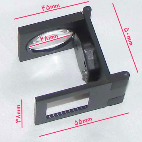 ابعاد لوپ زمین شناسی چراغدار 10X