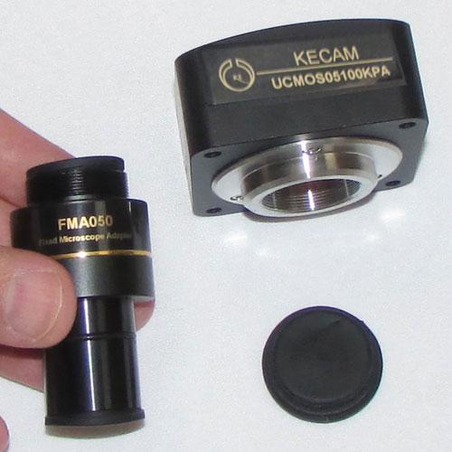 نمایی دیگر از بدنه اصلی و رابط اصلی دوربین میکروسکوپ دیجیتال