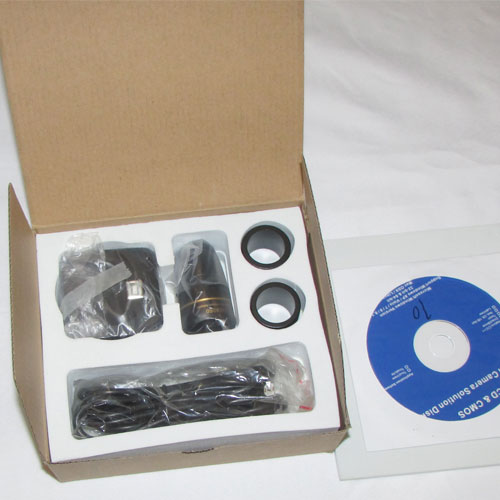 بسته بندی دوربین میکروسکوپ دیجیتالی 5 مگا پیکسلی