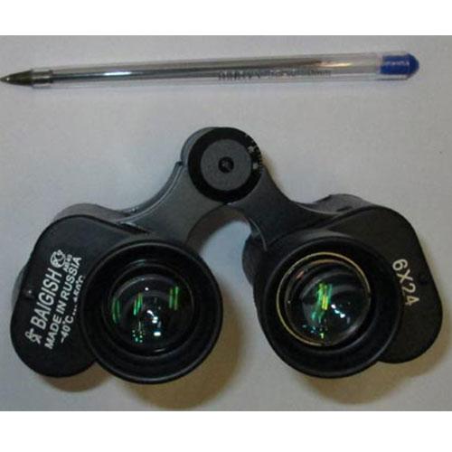 مقایسه ابعاد دوربین شکاری روسی بایگیش Baigish 6x24