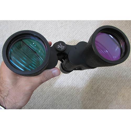 نمایش کوتینگ سبز و بنفش رنگ لنزهای جولویی دوربین شکاری زایس 20x60