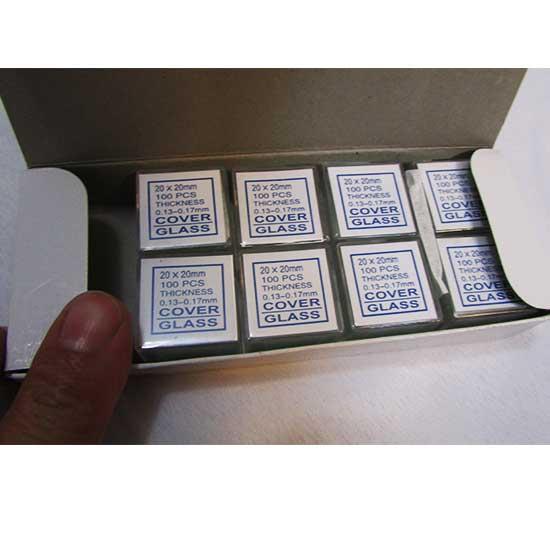 نمای باز شده پکیج ده عددی لامل مرغوب سایز 20x20 mm یکصد ورقی