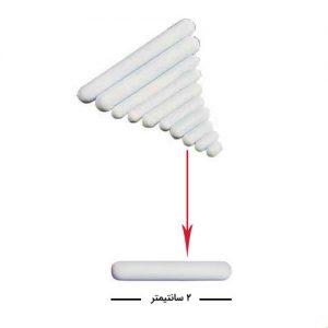 مگنت آزمایشگاهی استیرر با طول دو سانتیمتر دارای روکش