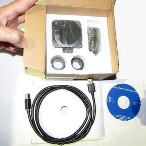 مشاهده بسته بندی دوربین میکروسکوپ CCD 5MP دارای پورت USB3
